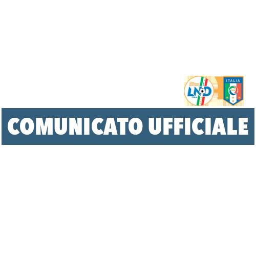 Comunicato Ufficiale N° 33 del 21/10/2015