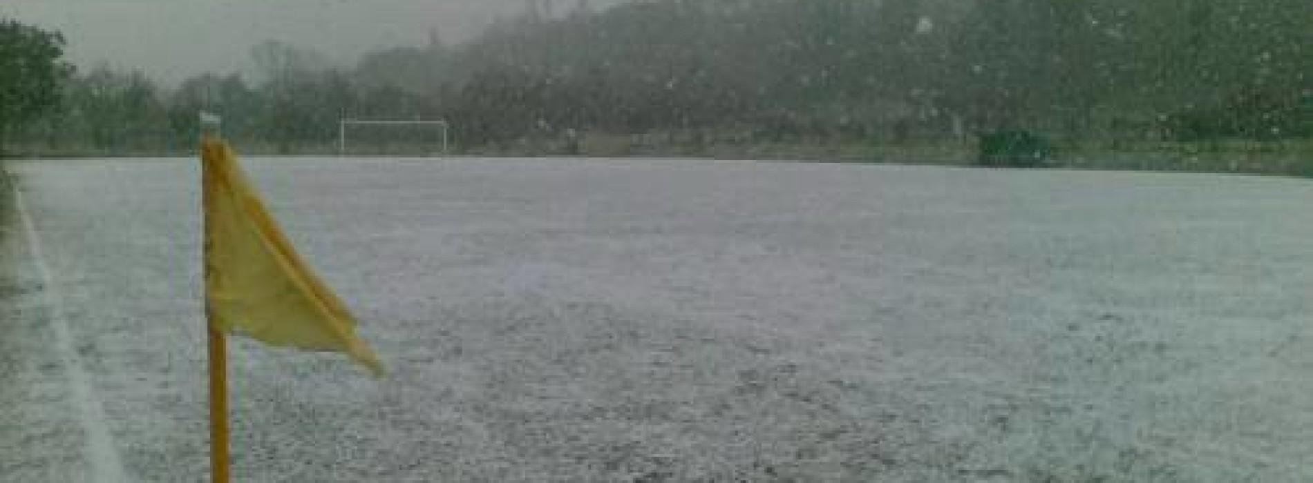 Maltempo, rinviate le gare odierne di calcio a 11 di ogni categoria