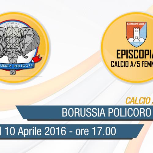 Serie C Femminile: Borussia Policoro-V.R. Futsal Episcopia in diretta streaming