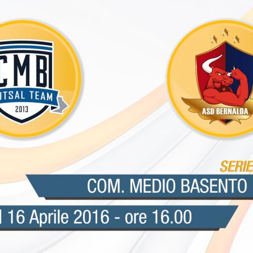 Serie C/1 Calcio a 5: Com.Medio Basento-Bernalda in diretta streaming