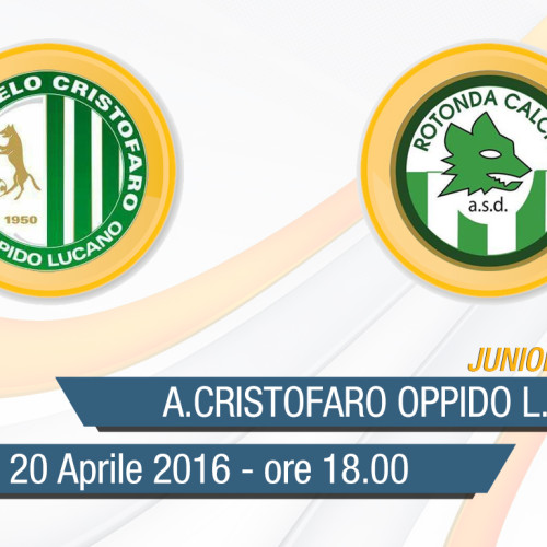Finale Juniores: A.Cristofaro Oppido L.-Rotonda Calcio in diretta streaming