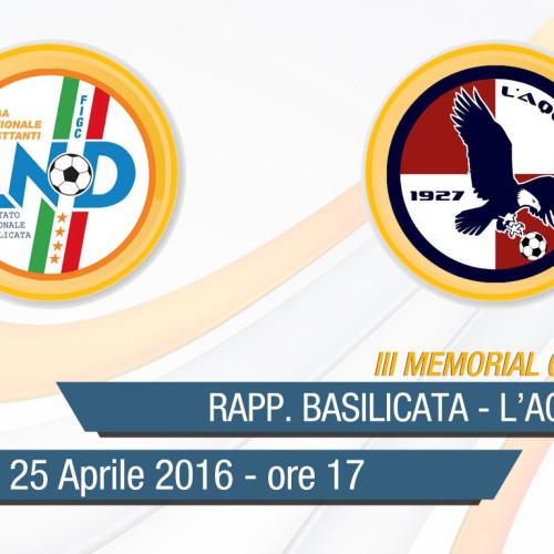 III Memorial Giovanni Palo: diretta streaming della finalissima Rapp. Giovanissimi-L'Aquila Calcio