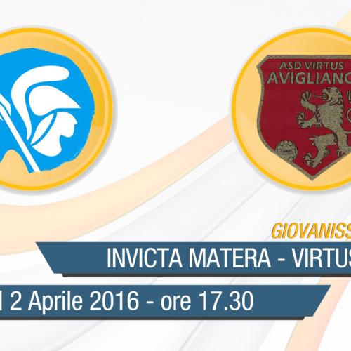 Giovanissimi Regionali: Invicta Matera-Virtus Avigliano in diretta streaming