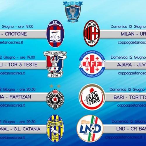 """Torneo """"G.Scirea"""": il programma gare di domenica 12 giugno"""
