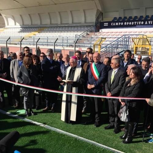 """Stadio """"A. Viviani"""", inaugurato il terreno di gioco in erba artificiale"""