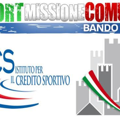 """Impiantistica sportiva, protocollo d'intesa Ics e Anci """"Sport Missione Comune 2017"""""""