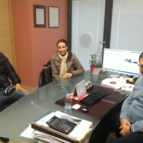 Il bomber del Potenza Calcio Carlos França visita la sede del CRB