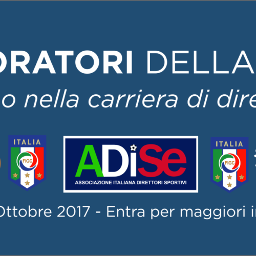 Corso per Collaboratore della Gestione Sportiva, proroga per le adesioni fino al 19 ottobre