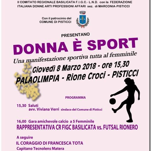"""""""Donna è sport"""", a Pisticci una manifestazione sportiva tutta al femminile per celebrare l'8 marzo"""