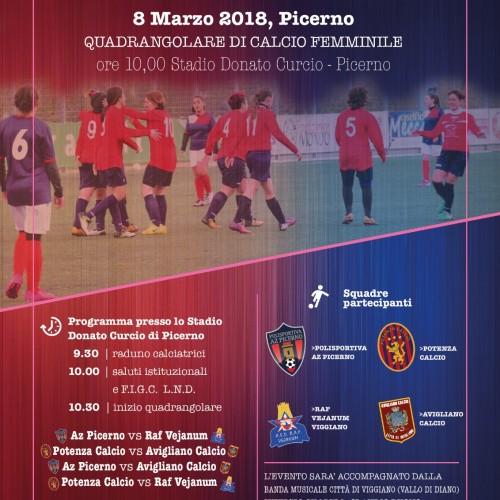 Festa della donna, iniziativa del Comitato Regionale Lnd Basilicata, comune di Picerno e della Commissione regionale per le Pari Opportunità