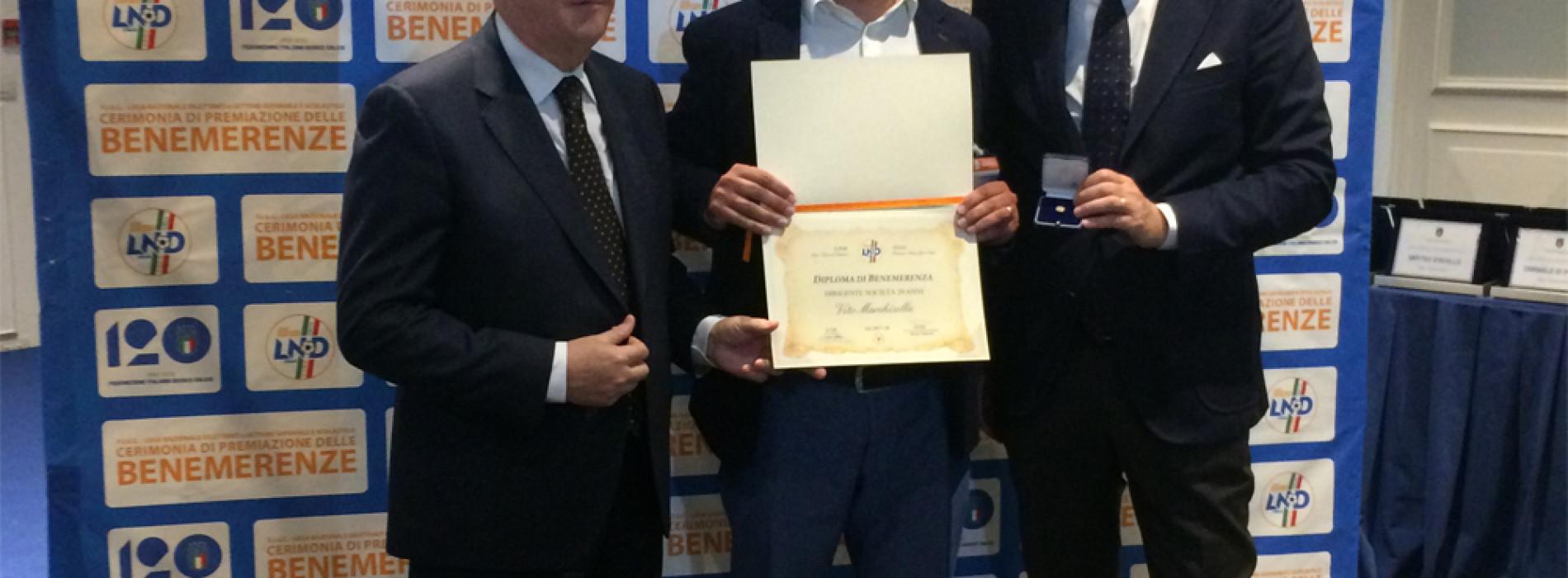 Benemerenze: premiati a Roma dirigenti e società