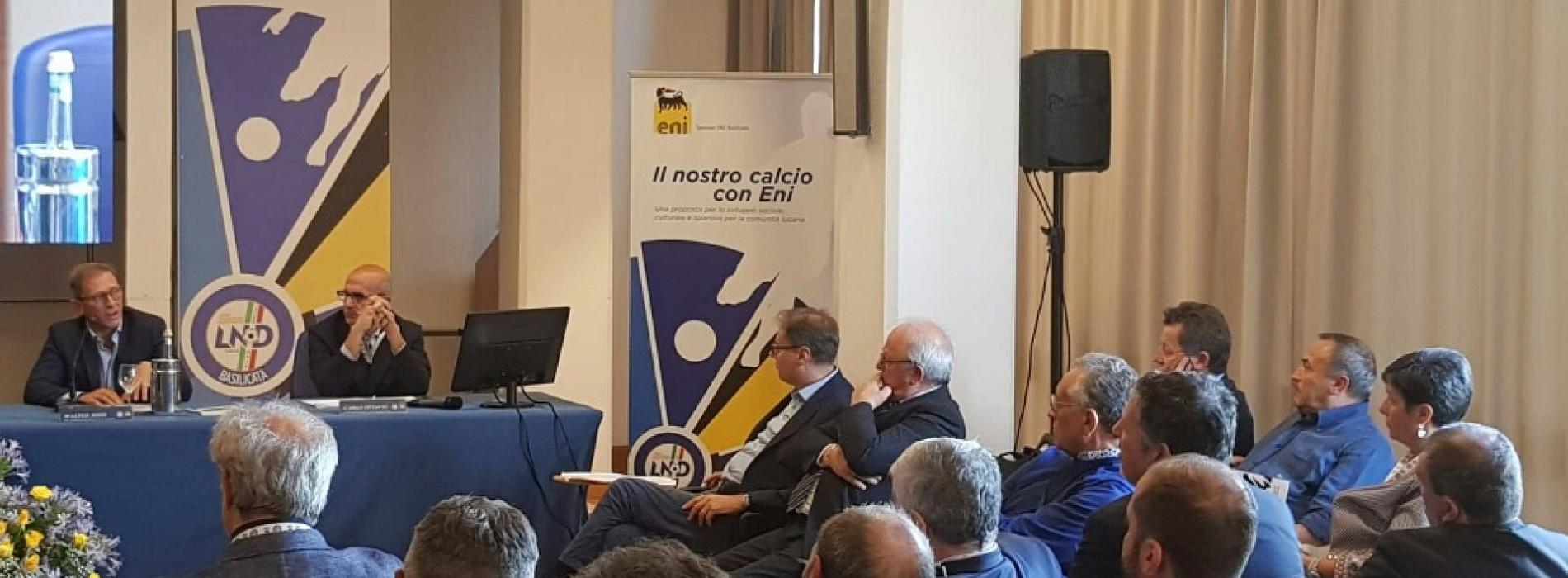 """Presentato a Potenza da CR Lnd Basilicata e Eni il progetto """"Il nostro calcio con Eni"""""""