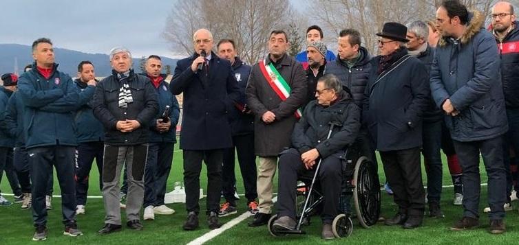 """Castelluccio Inferiore, inaugurato il nuovo manto erboso dello stadio """"N. Vulcano"""""""