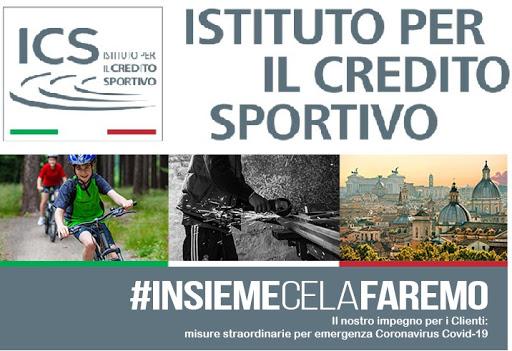 Misure straordinarie per emergenza Covid-19 dell'Istituto per il Credito Sportivo