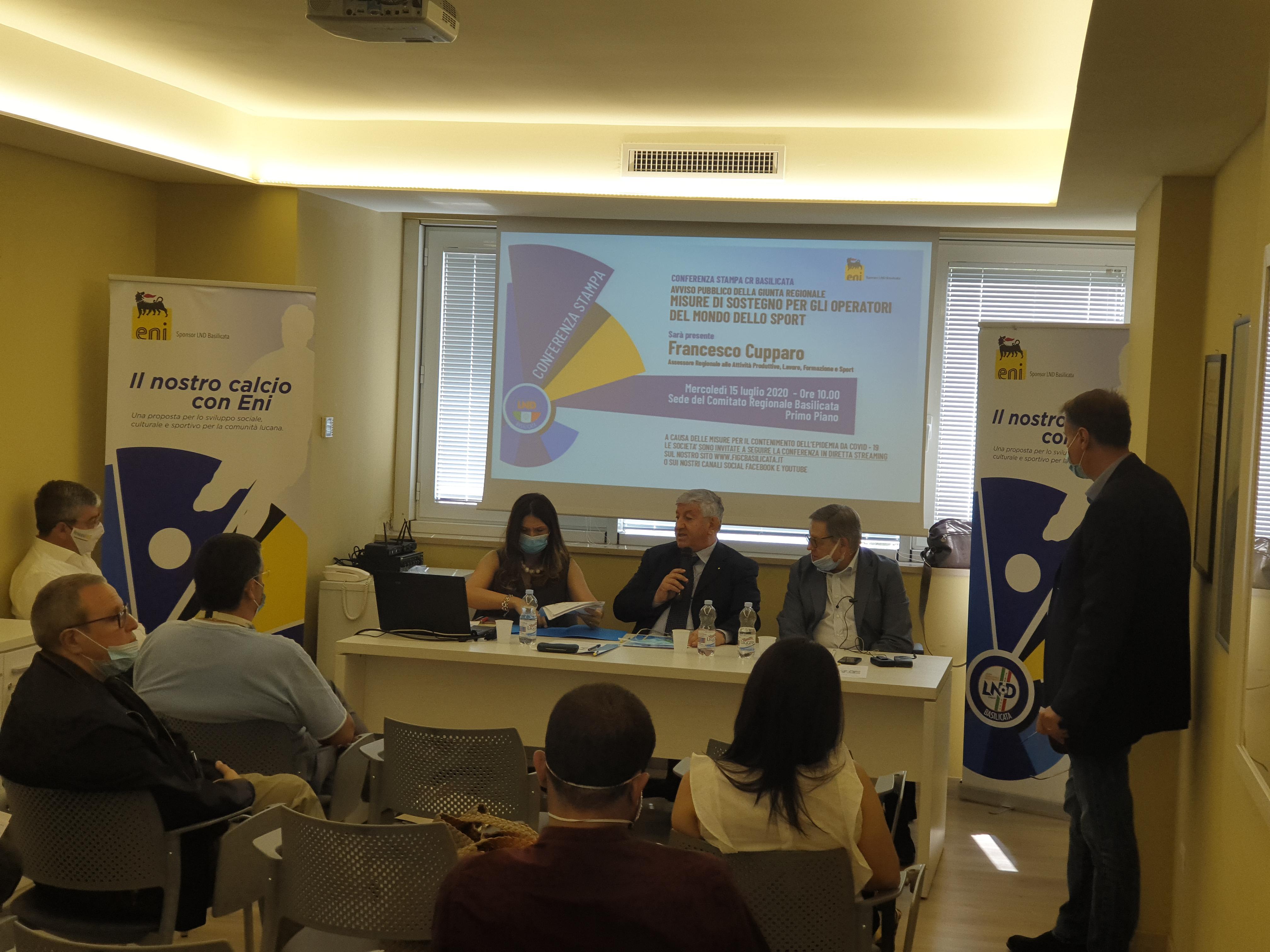CRB, presentato l'Avviso Pubblico della Giunta Regionale sulle misure di sostegno per gli operatori del mondo dello sport