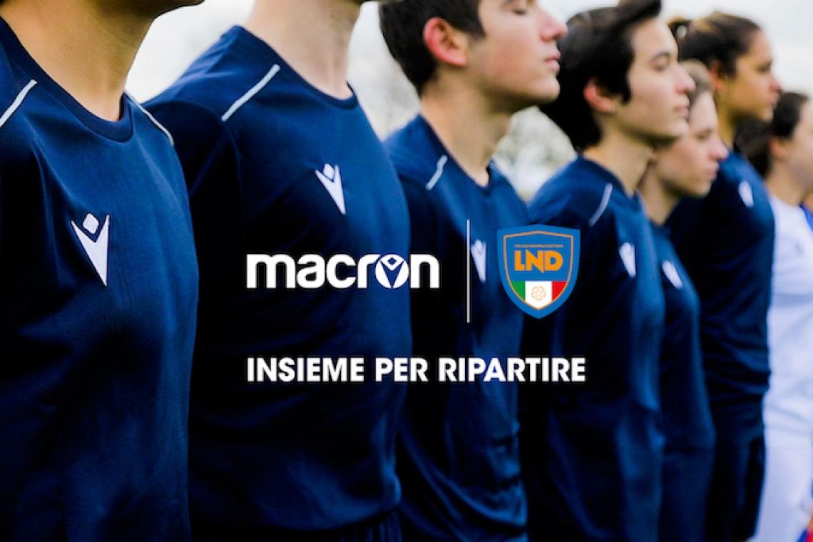"""""""Insieme per ripartire"""": Macron e LND donano un kit gara a tutte le società dilettantistiche con settore giovanile"""